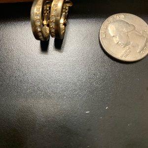 Jewelry - Vintage Goldtone Rhinestone Pierced Earrings